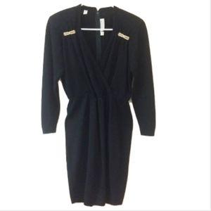 Vintage St. John Black Embellished Dress